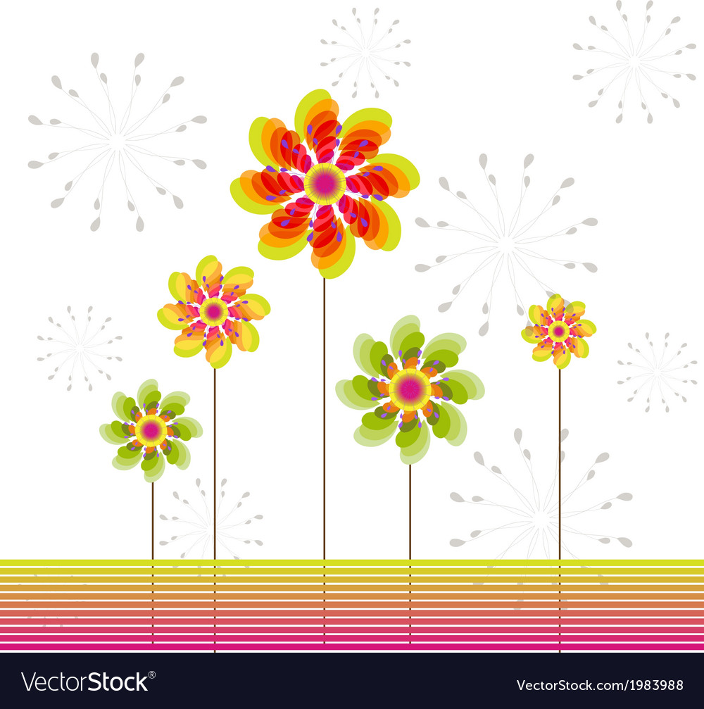 Springtime greeting card abstract flower vector | Price: 1 Credit (USD $1)