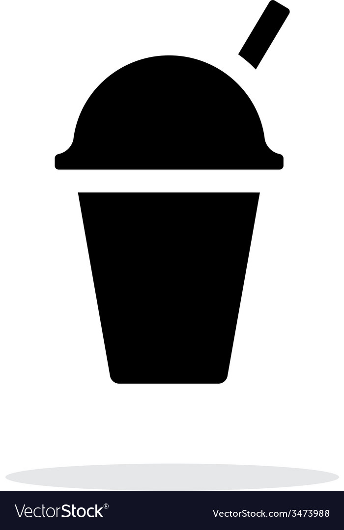 Takeaway cup simple icon on white background vector | Price: 1 Credit (USD $1)