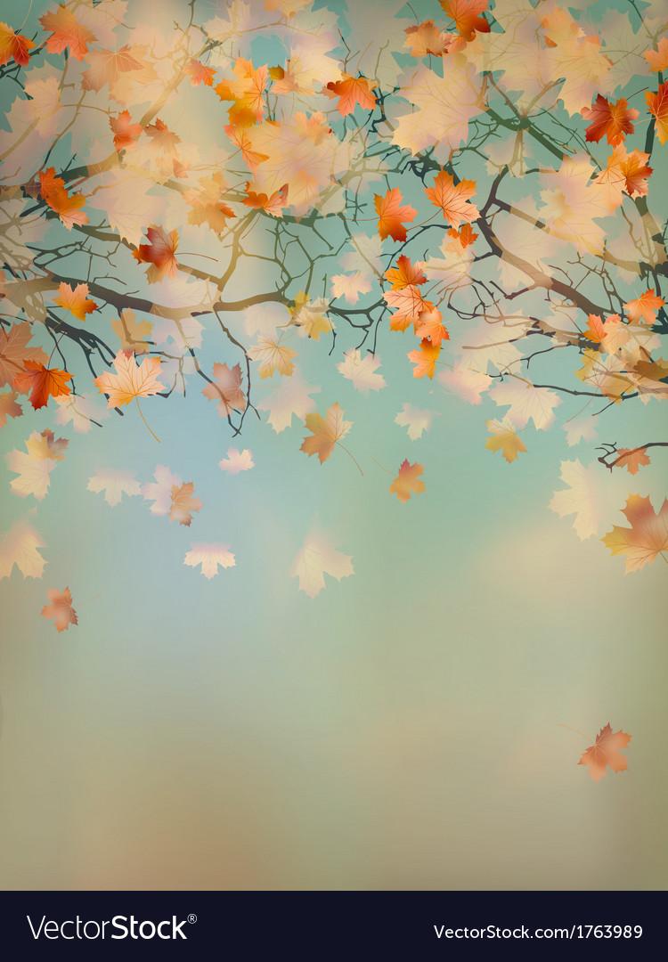 Abstract retro autumn background eps 10 vector