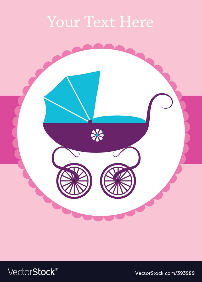 Baby pram vector | Price: 1 Credit (USD $1)