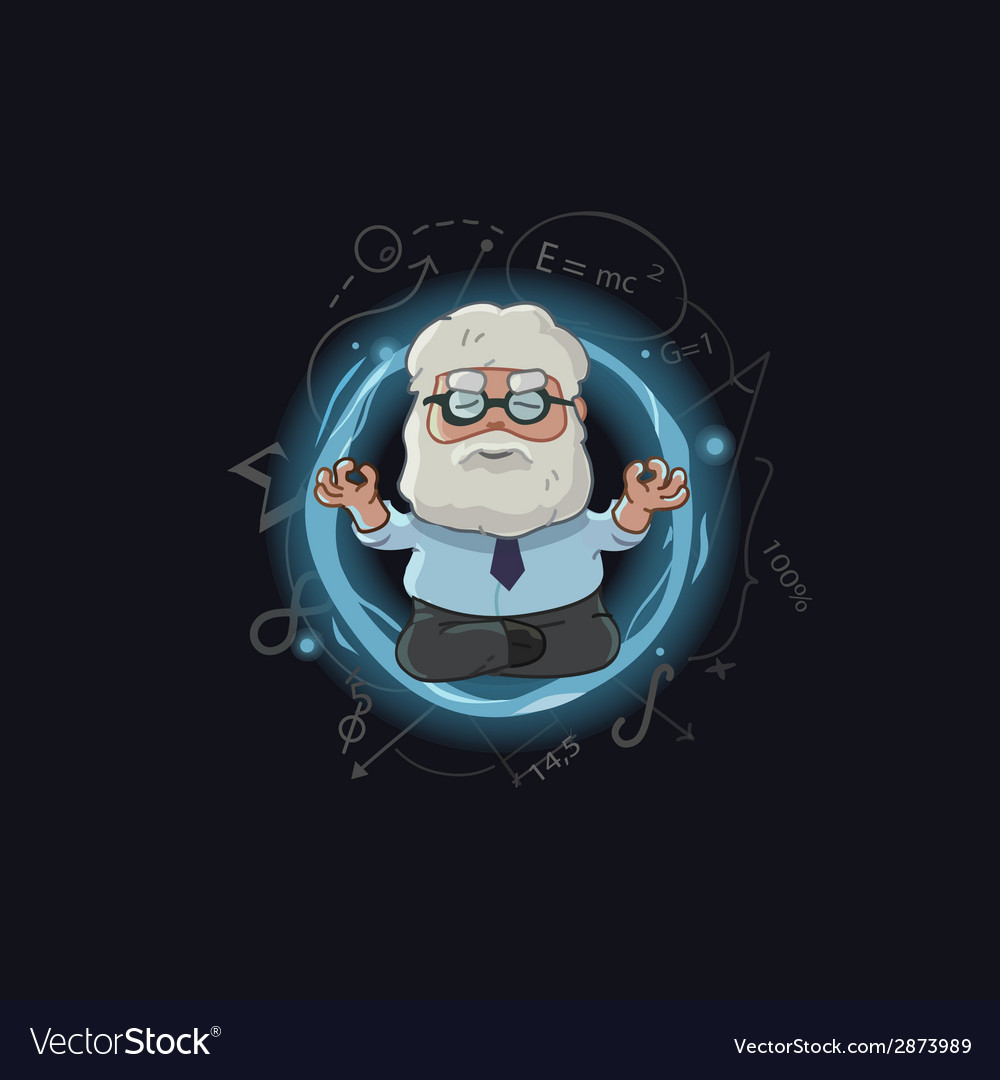 Cartoon of scientist character vector | Price: 1 Credit (USD $1)