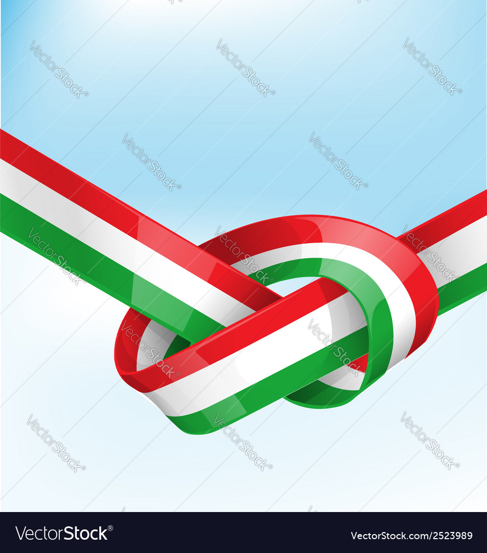 Italian ribbon flag on background vector | Price: 1 Credit (USD $1)
