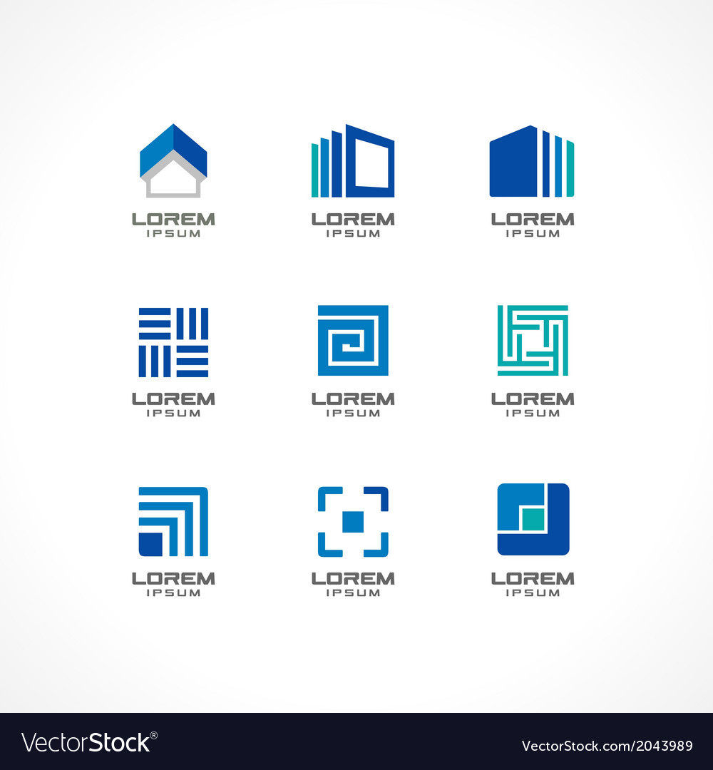 Set of icon design elements vector | Price: 1 Credit (USD $1)
