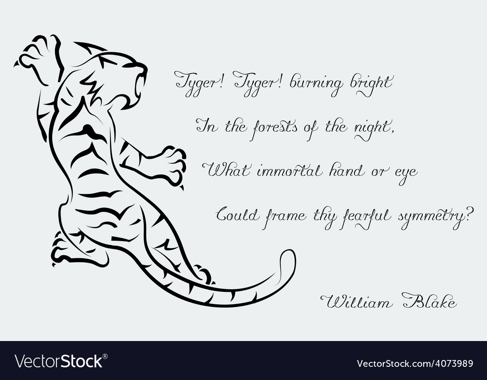 Tiger poems of william blake vector | Price: 1 Credit (USD $1)