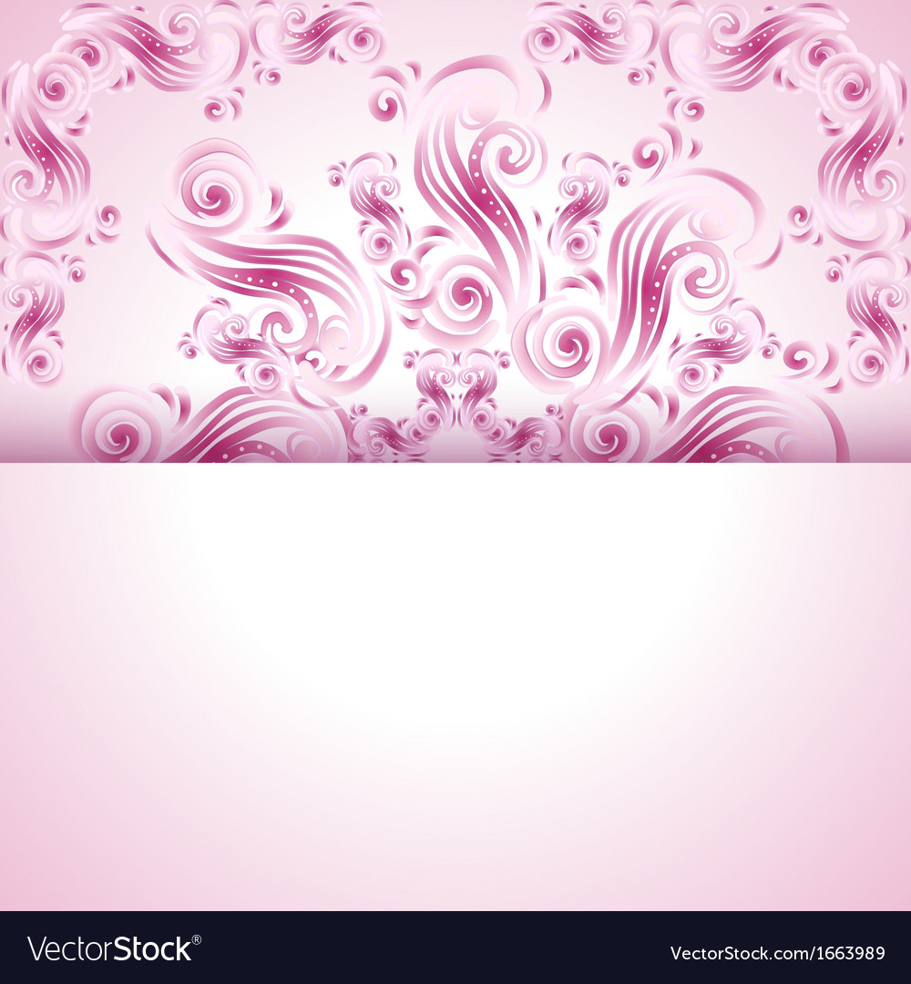 Vintage background with swirls ornaments vector | Price: 1 Credit (USD $1)