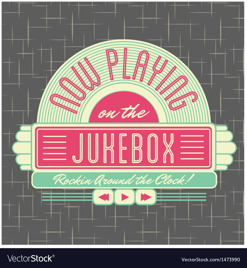 1950s jukebox style logo design vector | Price: 3 Credit (USD $3)