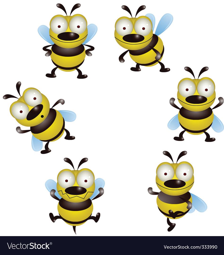 Bee cartoon collection vector | Price: 1 Credit (USD $1)