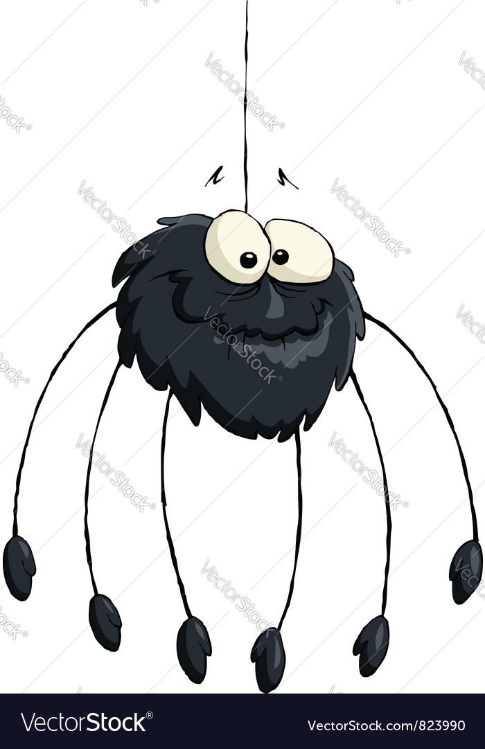 Black spider vector | Price: 3 Credit (USD $3)