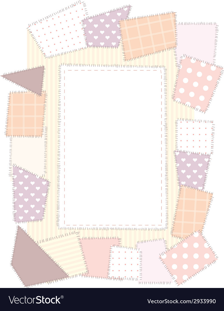 Border a4 patchwork vector | Price: 1 Credit (USD $1)