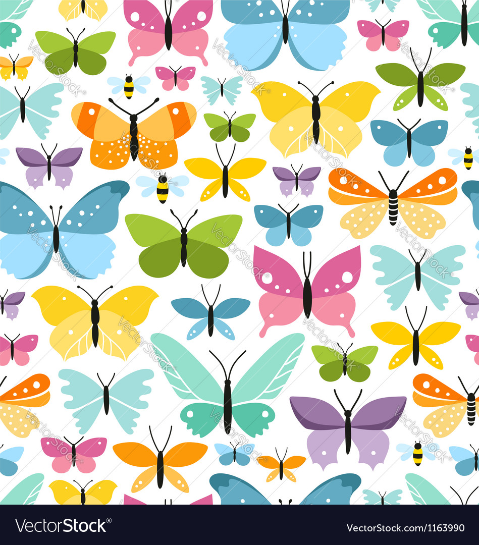 Butterflies pattern vector | Price: 1 Credit (USD $1)
