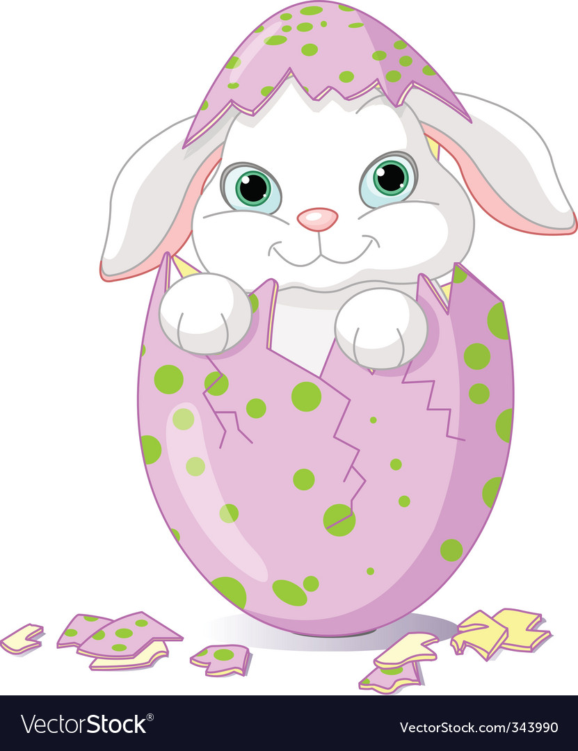 Easter baby bunny vector | Price: 3 Credit (USD $3)