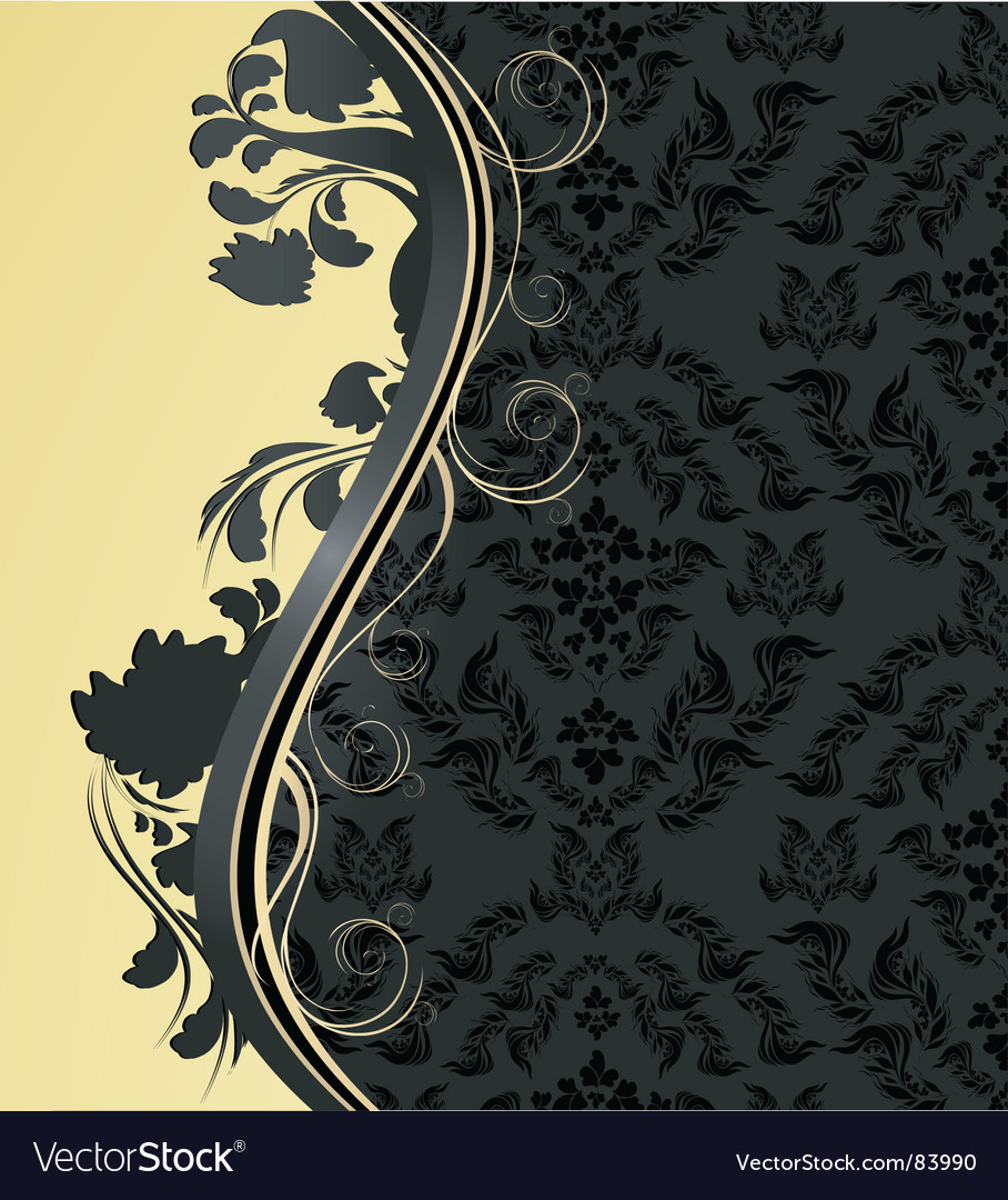 Floral wave vector | Price: 1 Credit (USD $1)