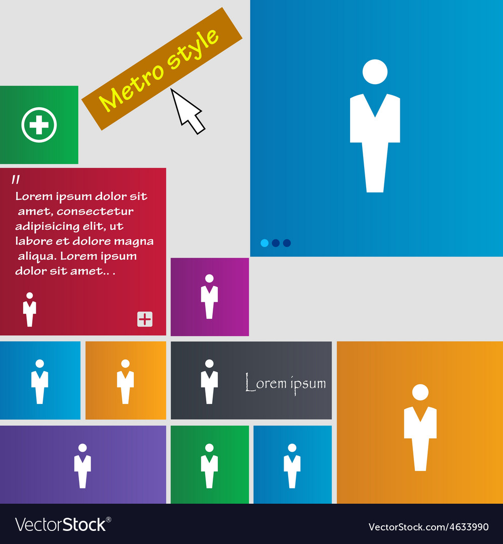 Human man person male toilet icon sign metro style vector   Price: 1 Credit (USD $1)