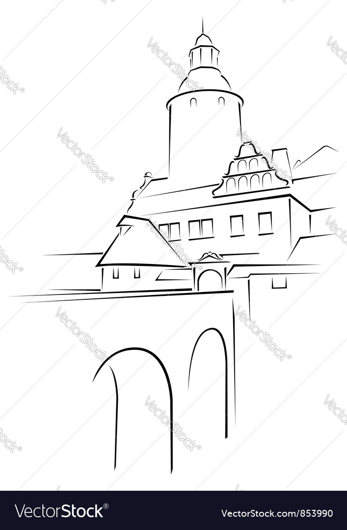 Medieval palace vector | Price: 1 Credit (USD $1)