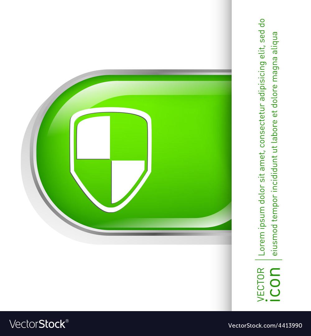Protect shield icon vector | Price: 1 Credit (USD $1)