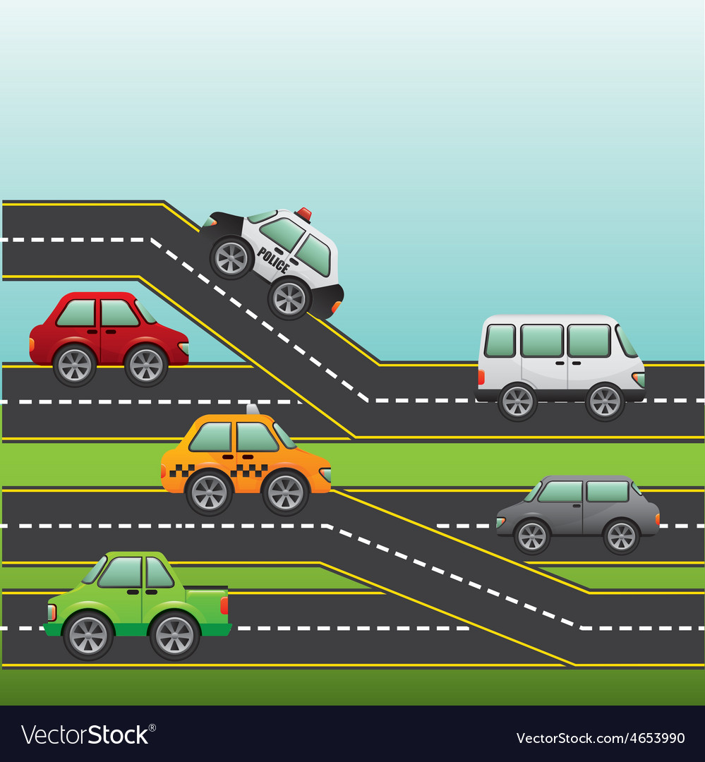 Road highway vector | Price: 1 Credit (USD $1)