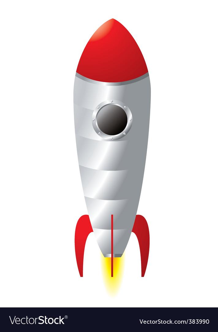 Rocket cartoon vector | Price: 1 Credit (USD $1)