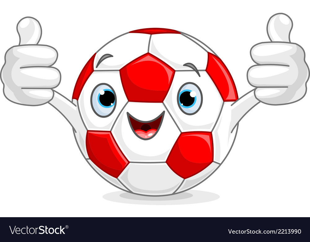 Soccer football character vector | Price: 1 Credit (USD $1)