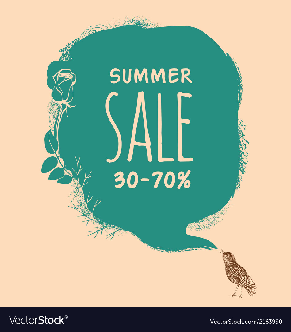 Summer sale background vector | Price: 1 Credit (USD $1)