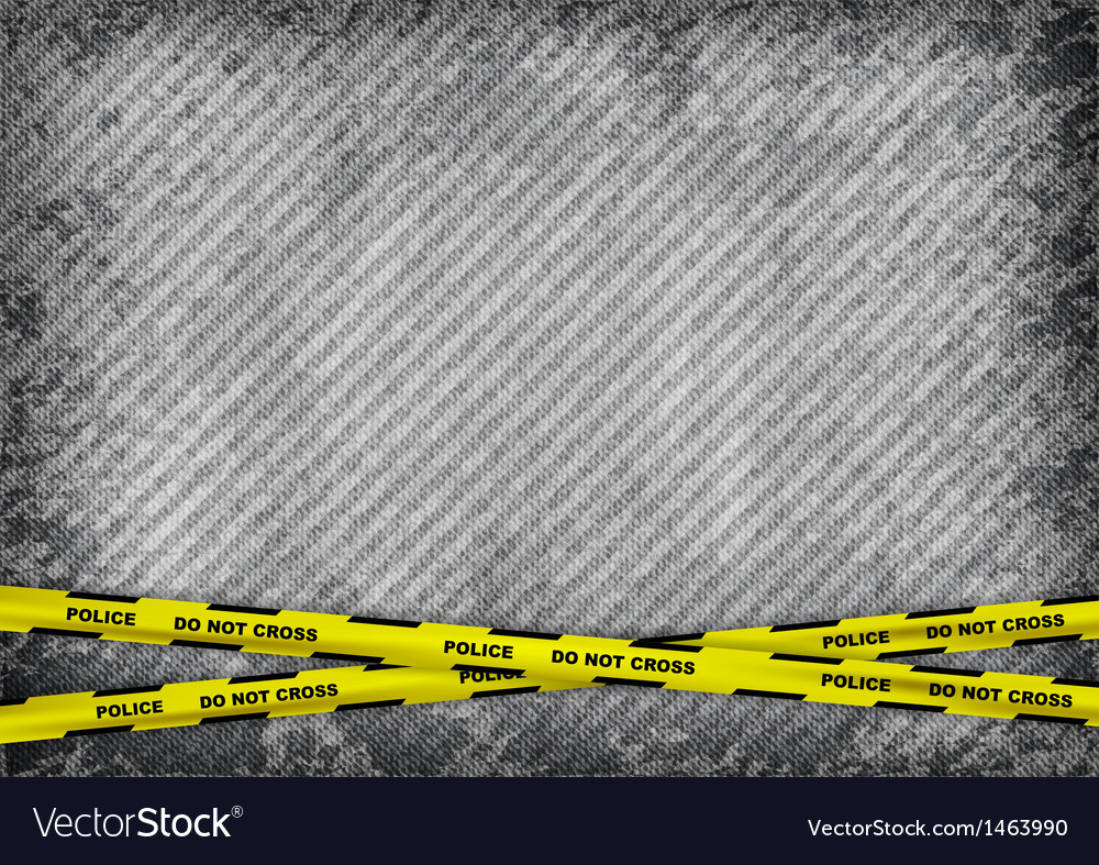 Texture grain grey with police tape vector | Price: 1 Credit (USD $1)