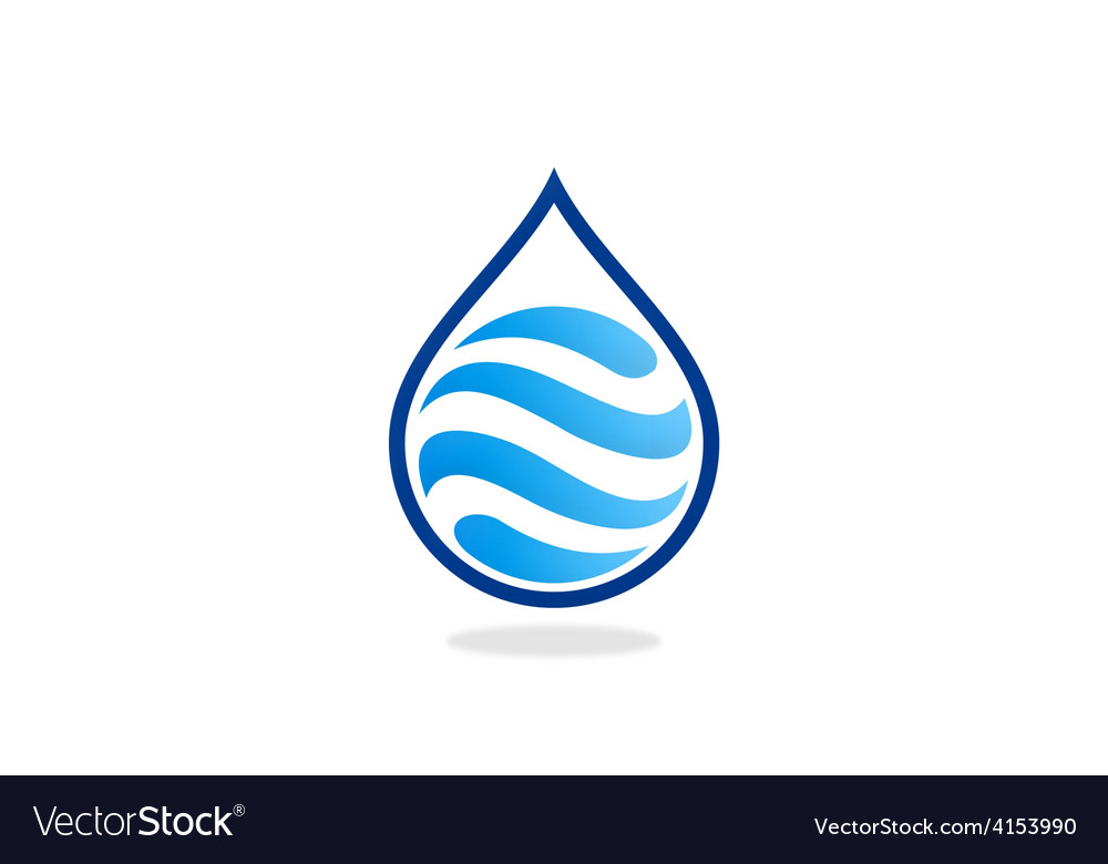Water drop wave abstract logo vector | Price: 1 Credit (USD $1)
