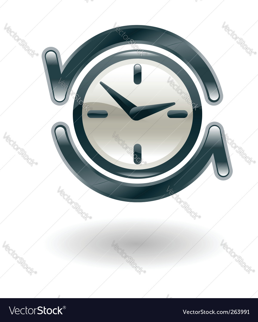 Clock illustration vector | Price: 1 Credit (USD $1)