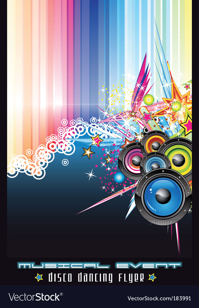 Disco dancing flyer vector | Price: 3 Credit (USD $3)