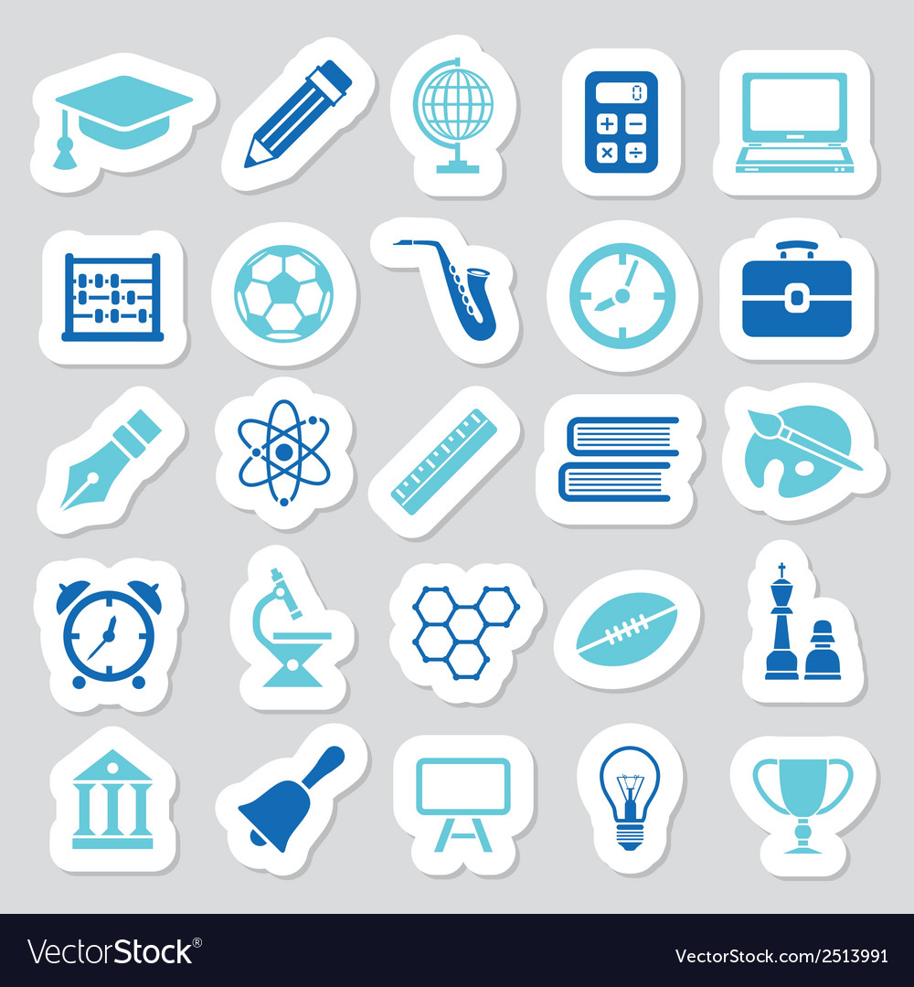 Education stickers vector | Price: 1 Credit (USD $1)