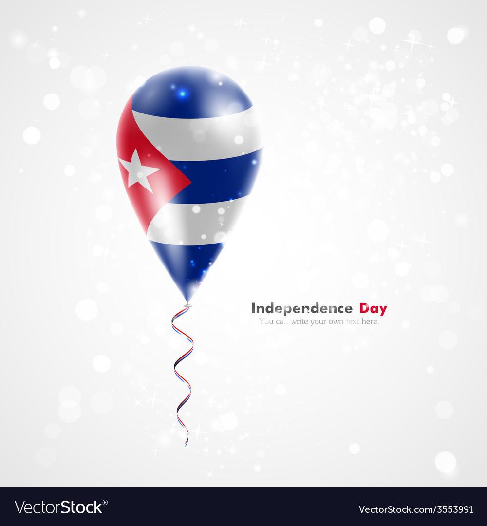 Flag of cuba on balloon vector | Price: 1 Credit (USD $1)