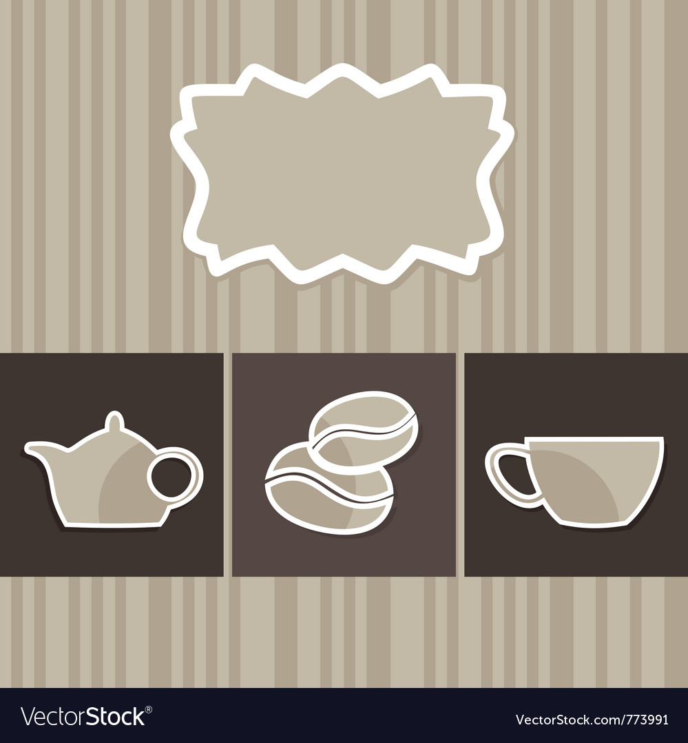 Menu with a coffee cup vector | Price: 1 Credit (USD $1)