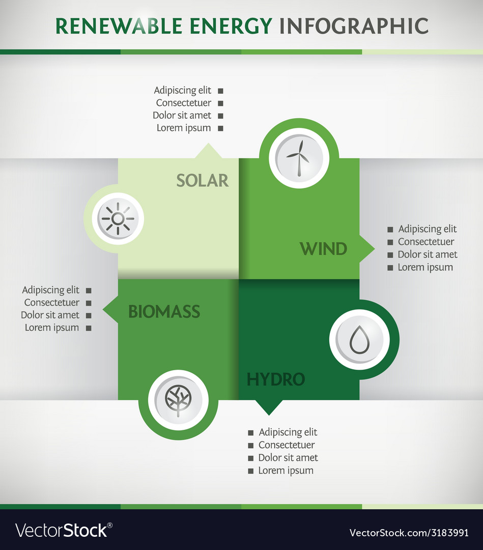 Renewable energy vector | Price: 1 Credit (USD $1)