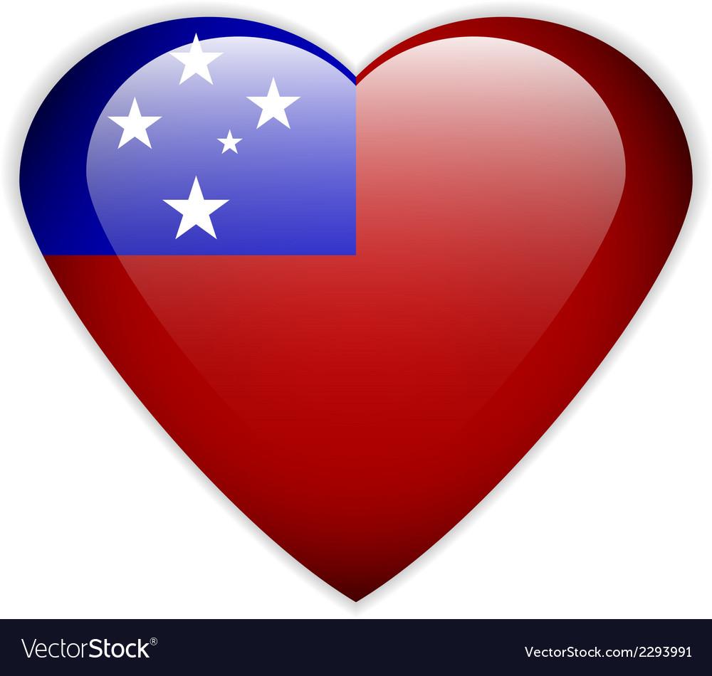 Samoa flag button vector | Price: 1 Credit (USD $1)