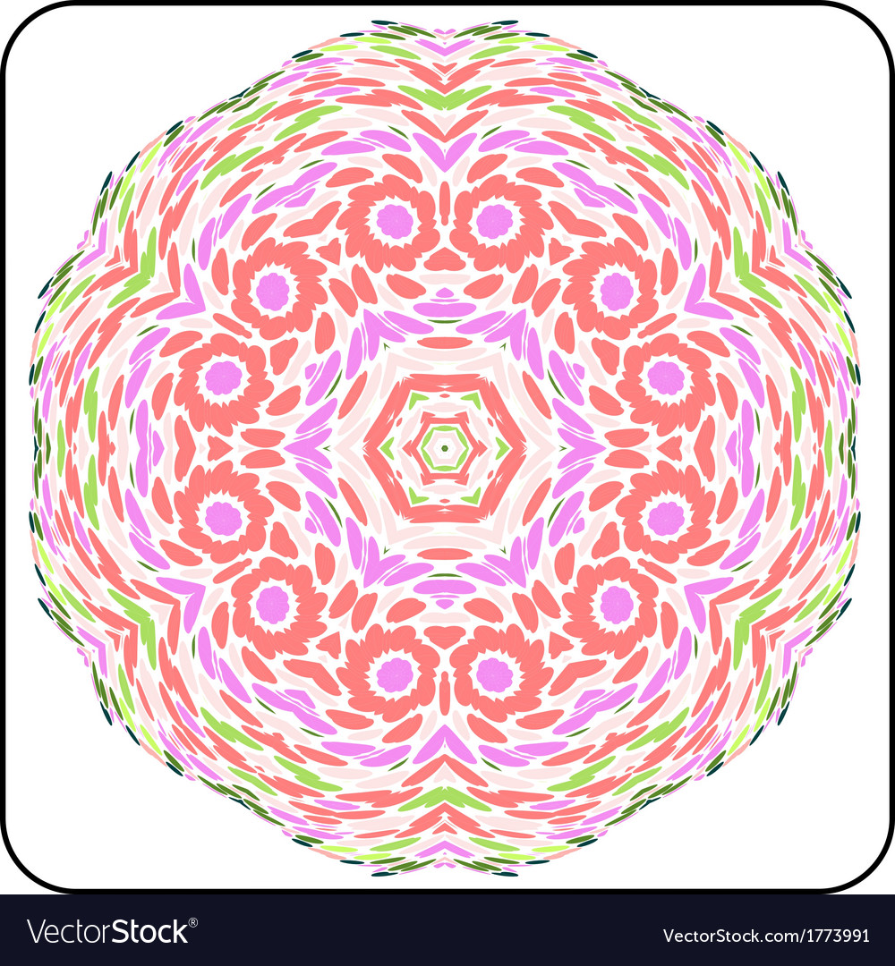 Symmetry colorful pattern vector | Price: 1 Credit (USD $1)