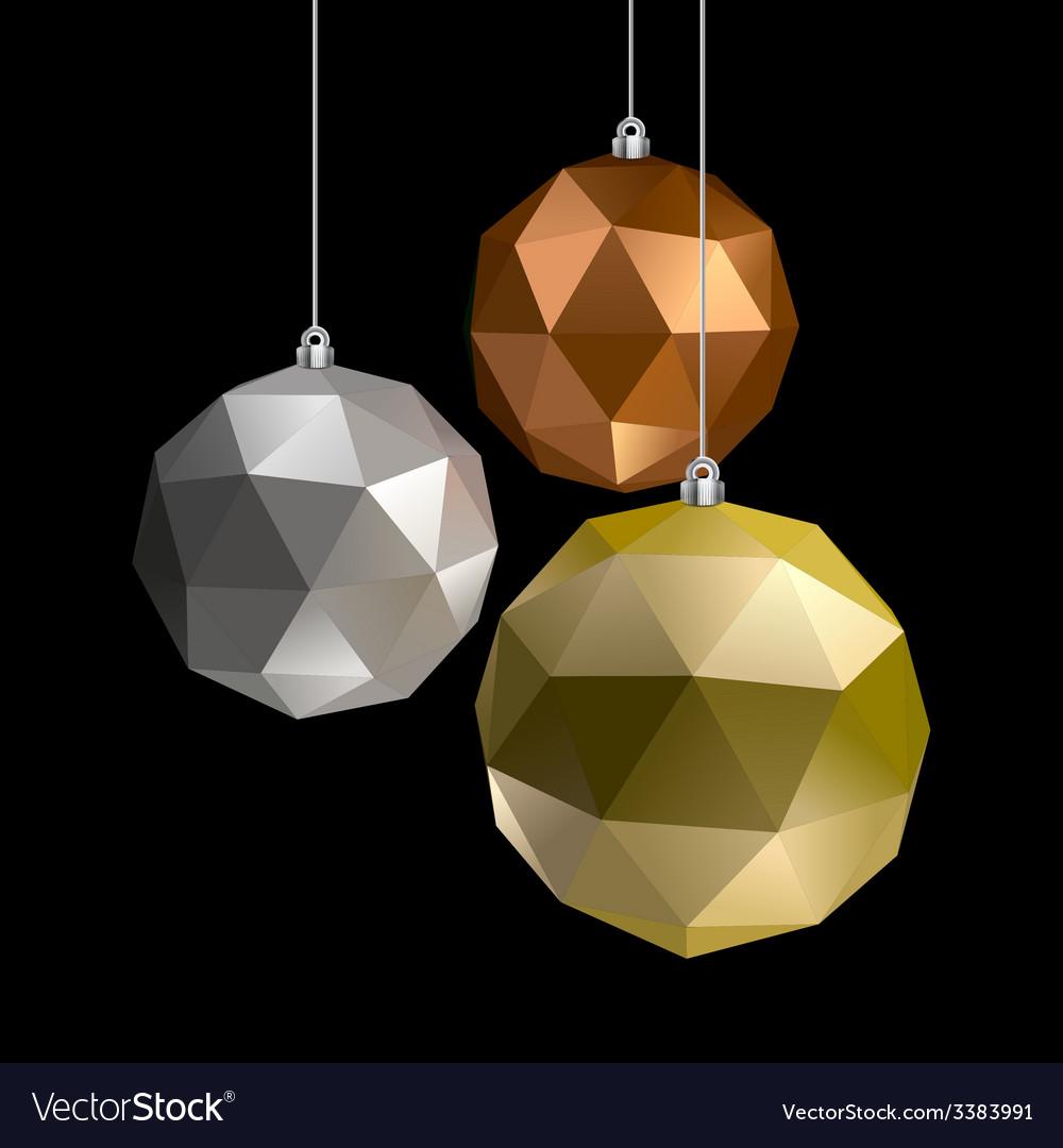 Three balls vector | Price: 1 Credit (USD $1)