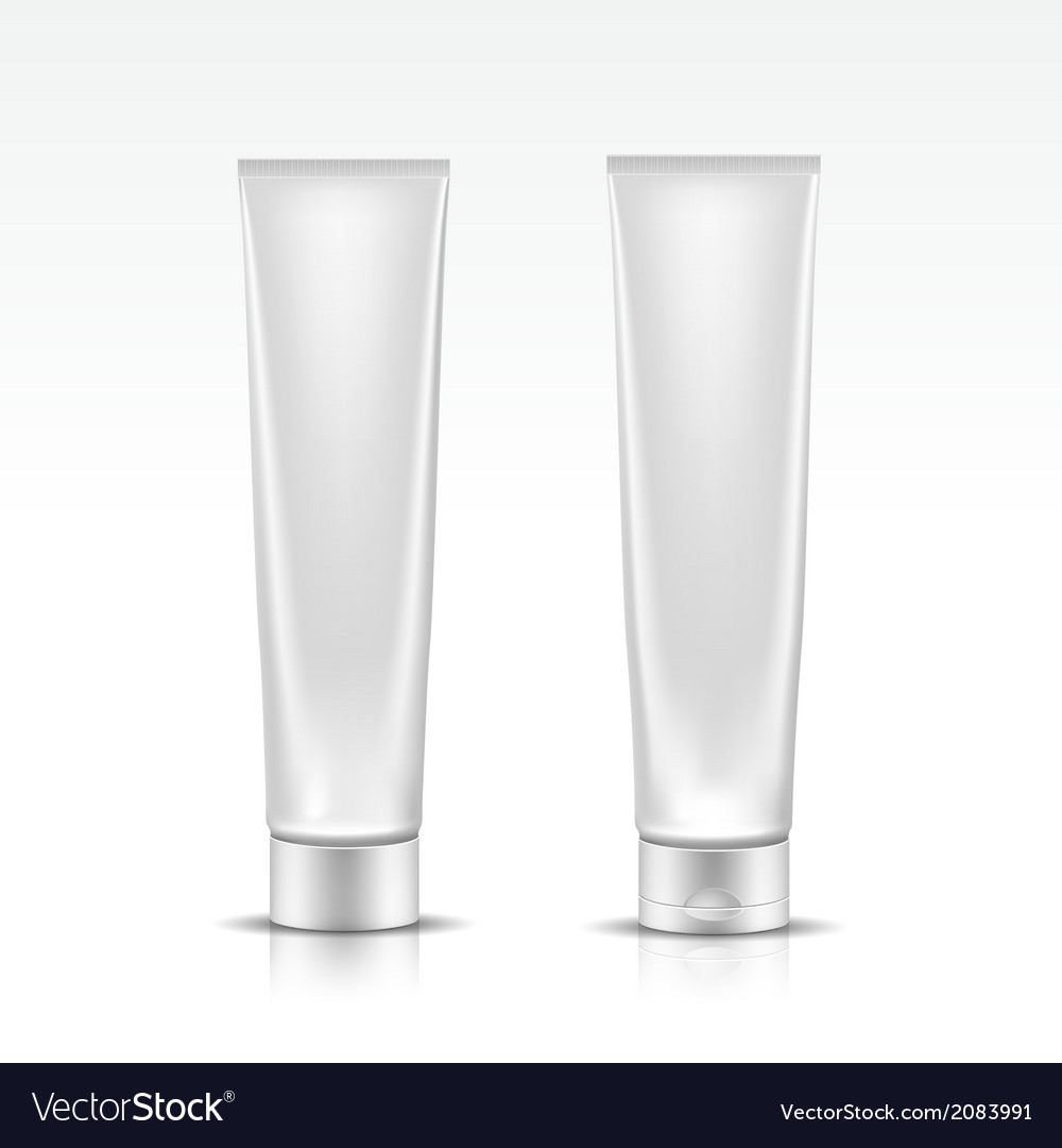 Tube for cosmetic package isolated on white vector | Price: 1 Credit (USD $1)