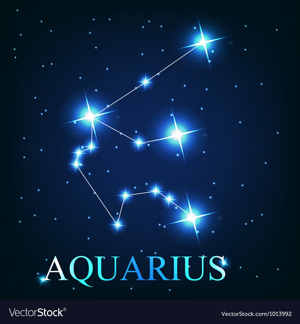 The aquarius zodiac sign of the beautiful bright vector | Price: 1 Credit (USD $1)