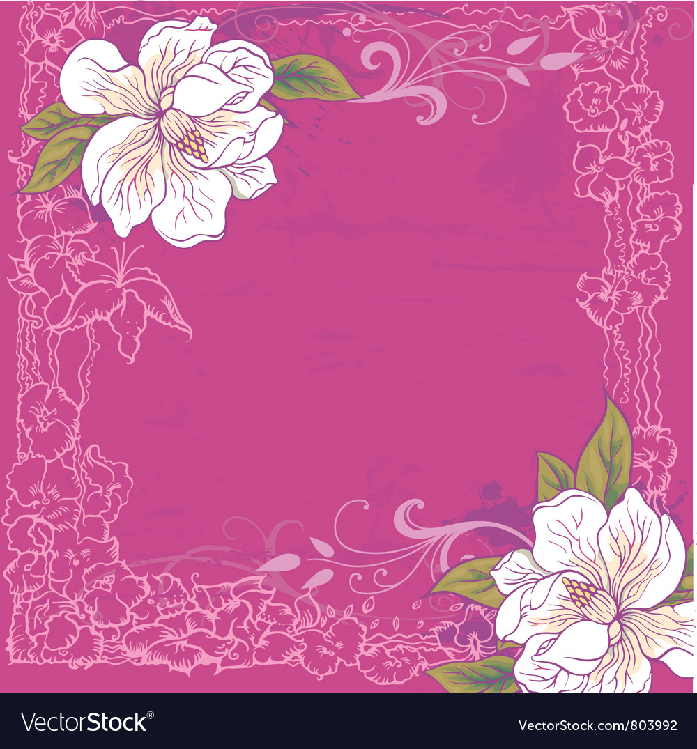 Background with magnolia vector | Price: 1 Credit (USD $1)