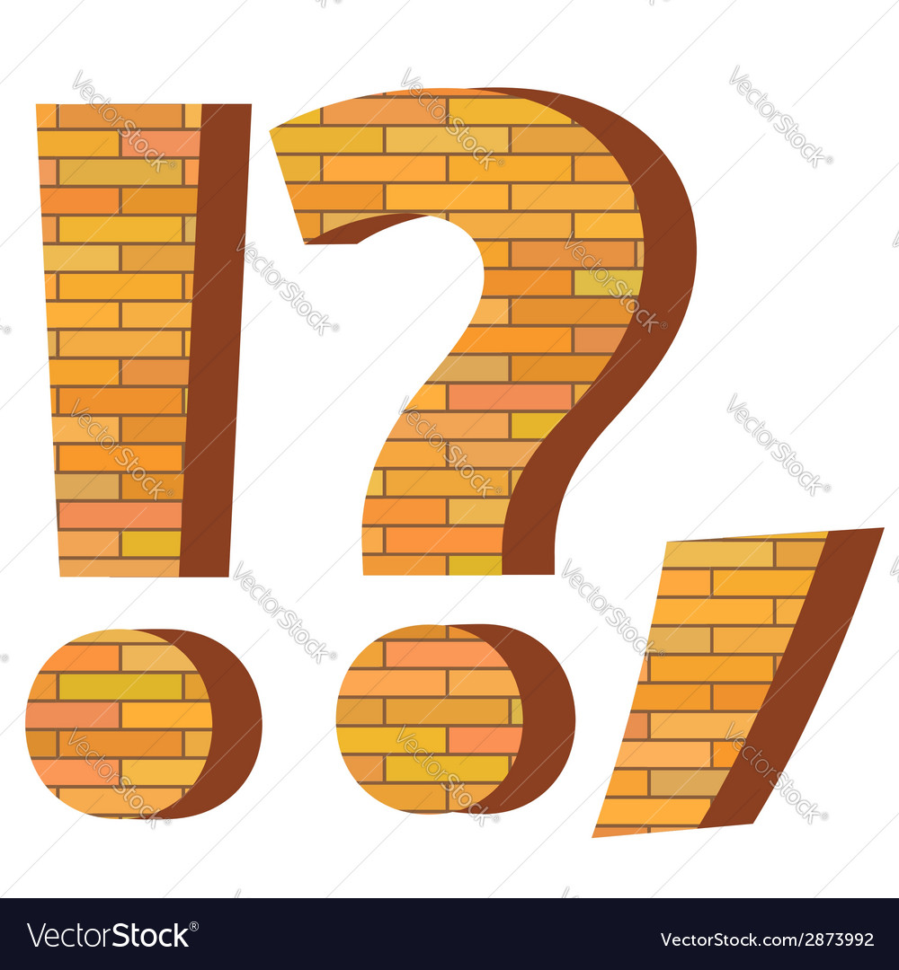 Brick question mark vector | Price: 1 Credit (USD $1)
