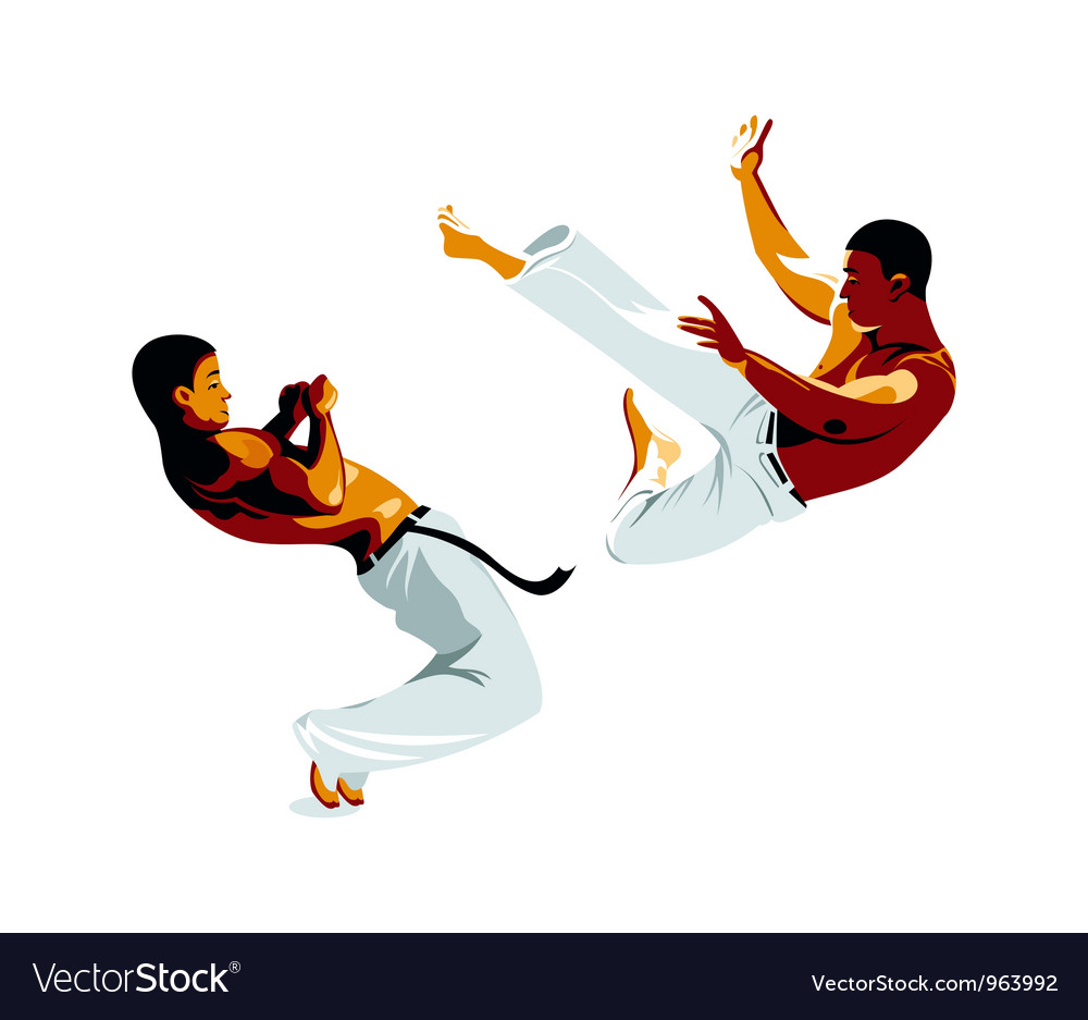 Capoeira fighters vector | Price: 3 Credit (USD $3)