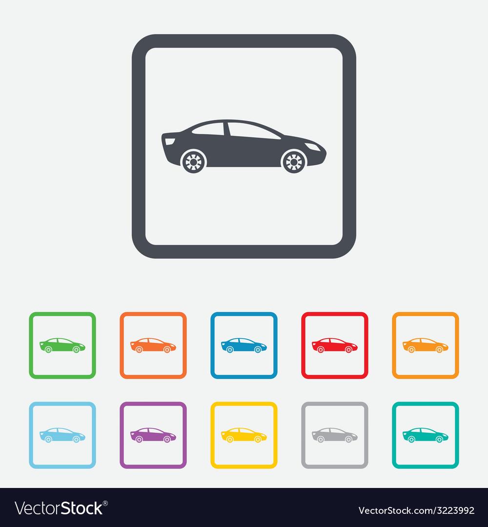 Car sign icon sedan saloon symbol vector | Price: 1 Credit (USD $1)