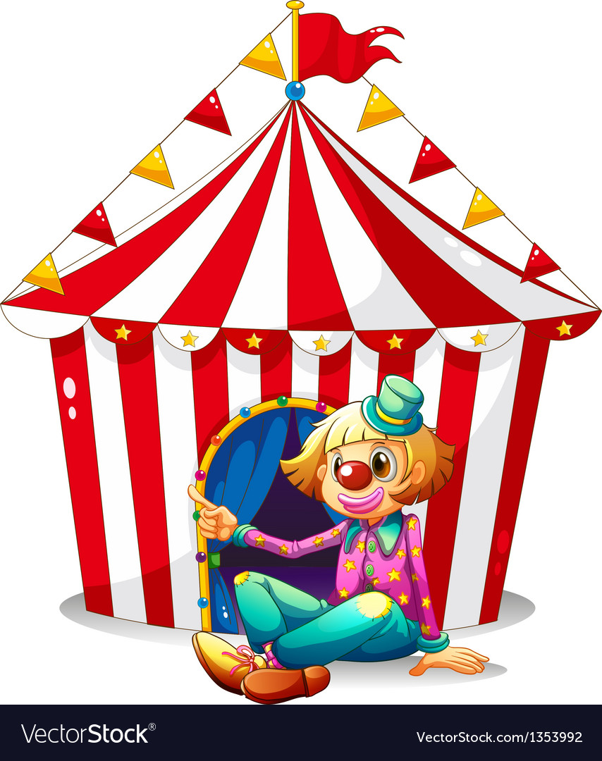 Circus clown tent vector | Price: 1 Credit (USD $1)