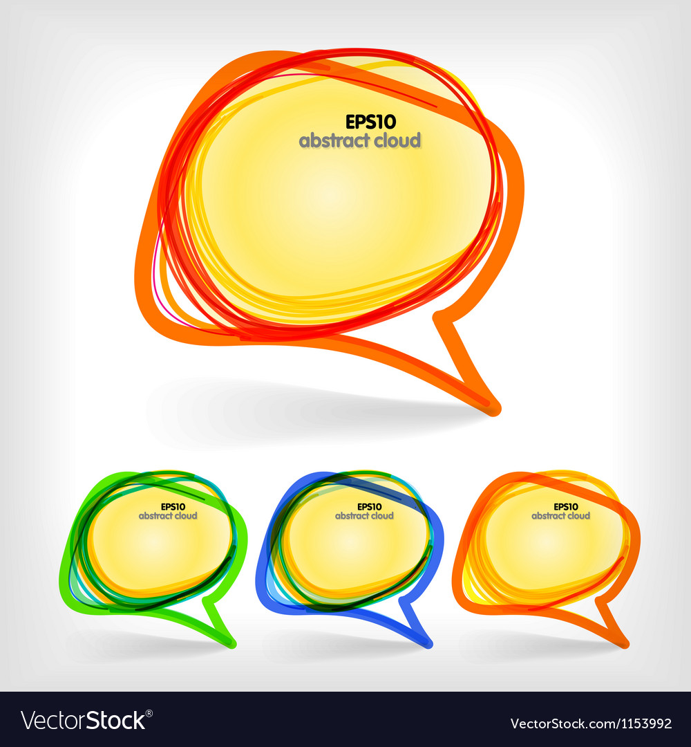 Collection of color abstract talking bubbles vector | Price: 1 Credit (USD $1)