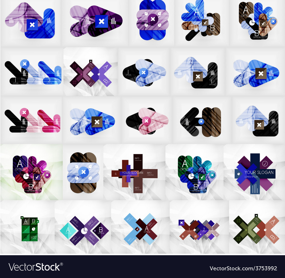 Mega collection of abstract geometric vector | Price: 1 Credit (USD $1)