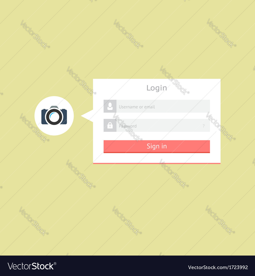 Minimalistic login form vector | Price: 1 Credit (USD $1)