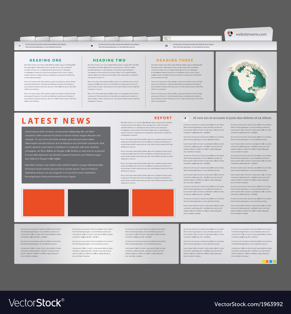 News blog vector | Price: 1 Credit (USD $1)