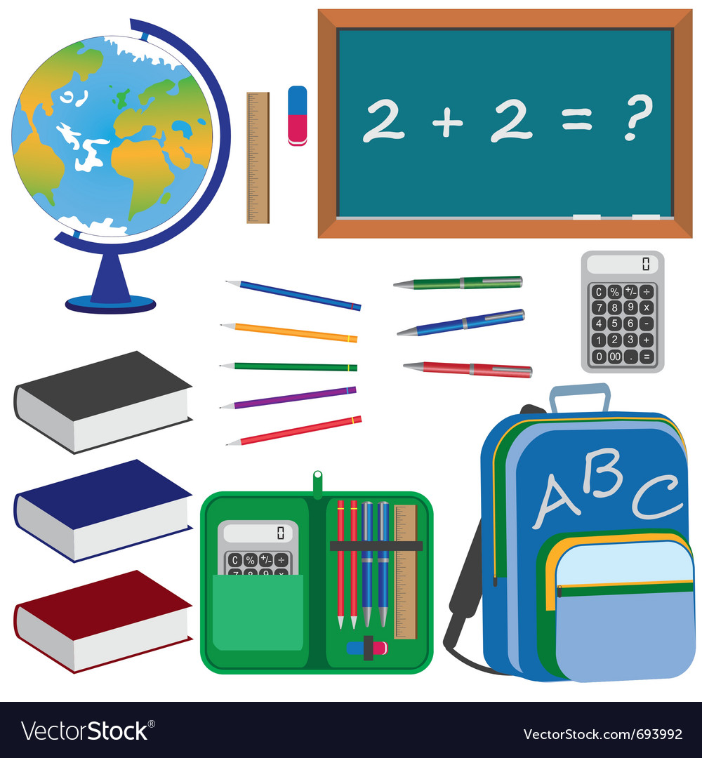 Objects for education vector | Price: 3 Credit (USD $3)