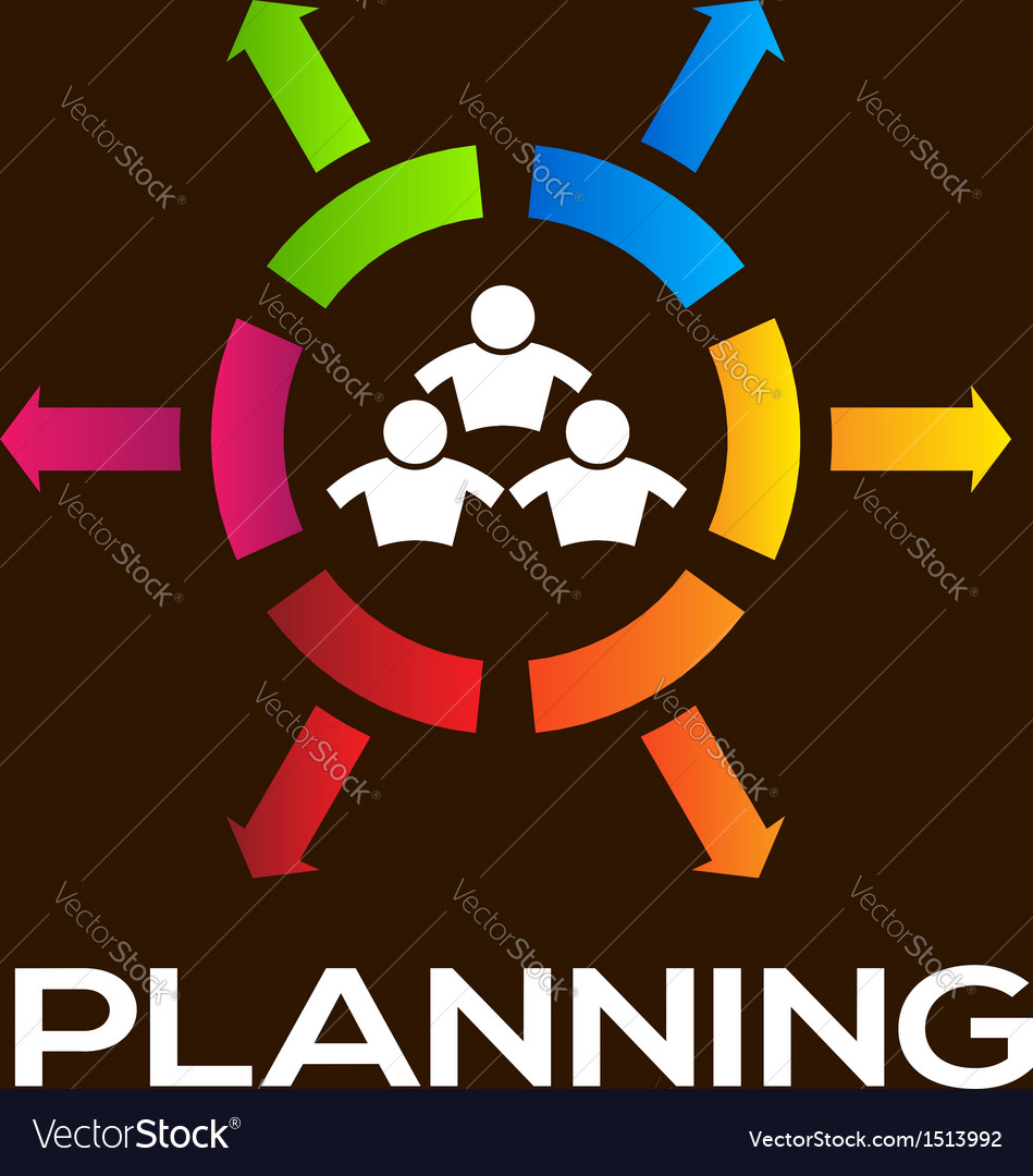 Planning team people infographic vector | Price: 1 Credit (USD $1)