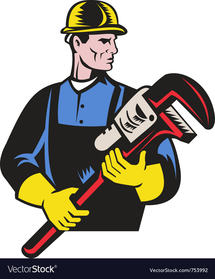 Plumber repairman monkey wrench vector | Price: 1 Credit (USD $1)