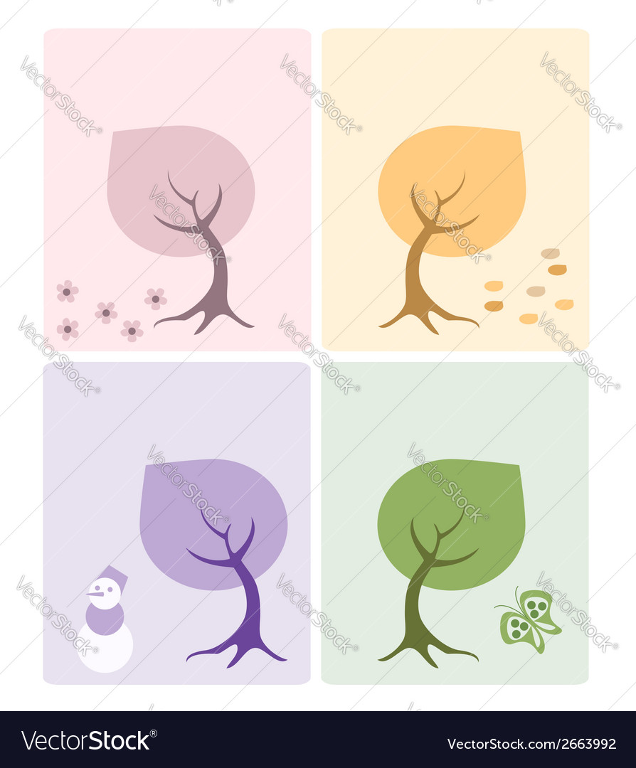 Set of 4 cards vector | Price: 1 Credit (USD $1)
