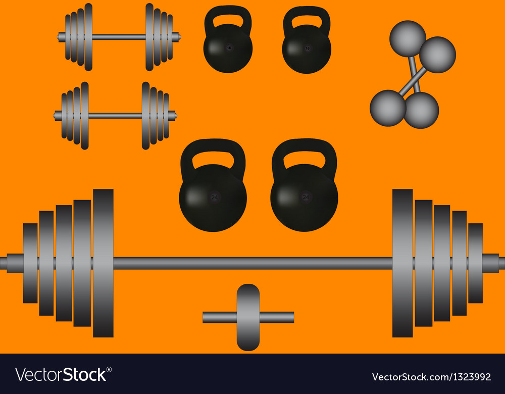 Weights barbell dumbbell vector | Price: 1 Credit (USD $1)